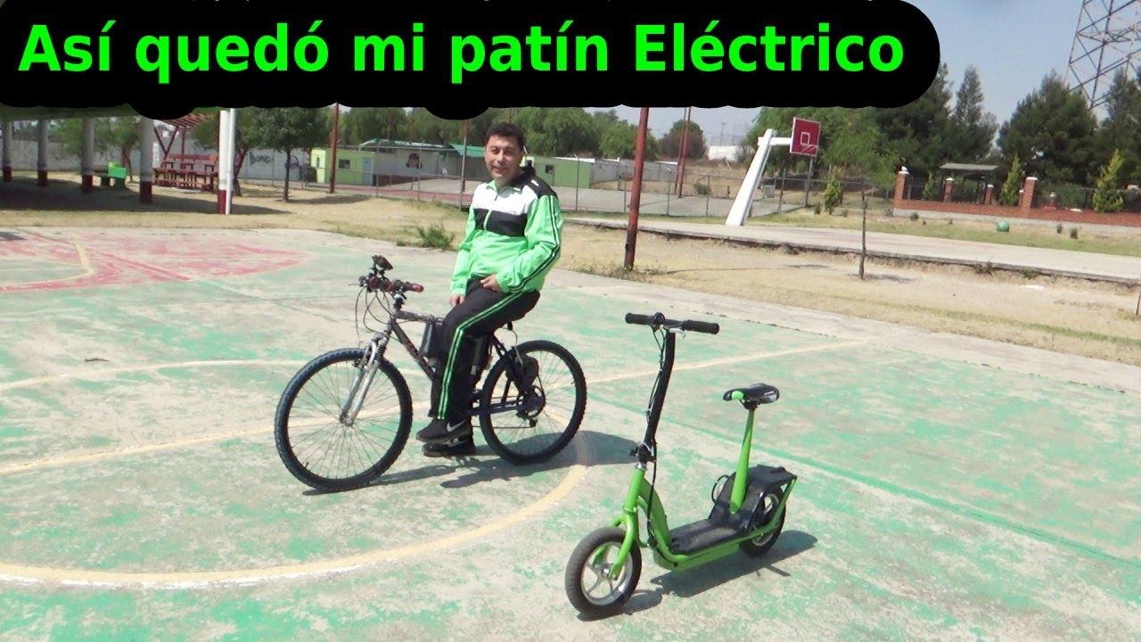 MEJORANDO LA BICICLETA ELÉCTRICA  Y probando el EL SCOOTER ELECTRICO CON BATERIAS DE LITIO.