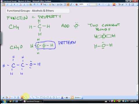 Functional Groups: Alcohols and Ethers