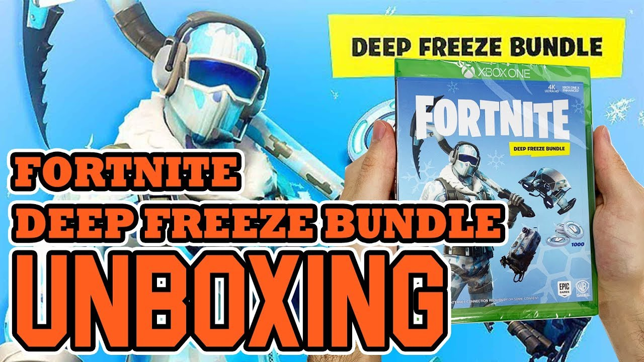 fortnite deep freeze bundle xbox one unboxing - fortnite xbox one physical