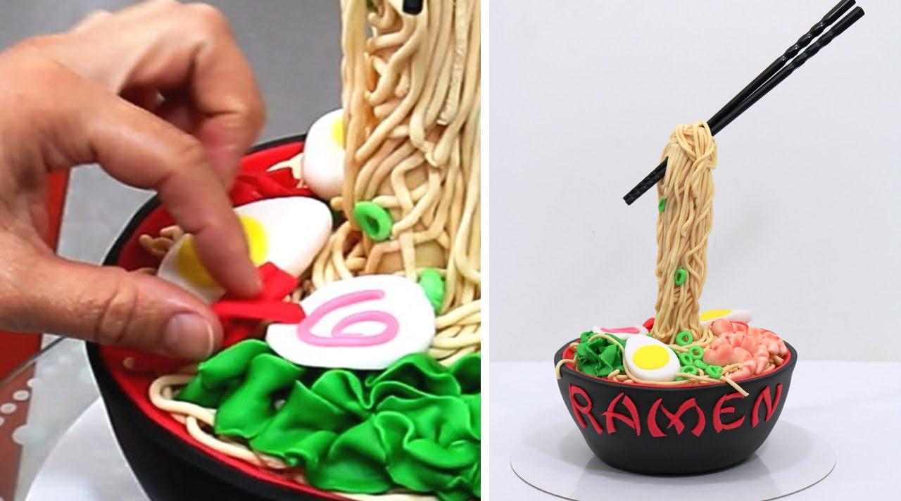 How To Make Noodles Cake