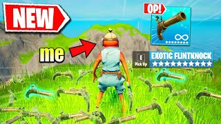 Fortnite Except I Only Use FLINT-KNOCK Pistol (overpowered)