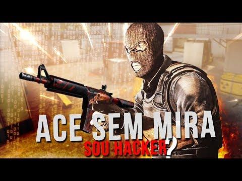 1TAP E ACE JOGANDO SEM MIRA, SOU HACKER? (DESAFIO)