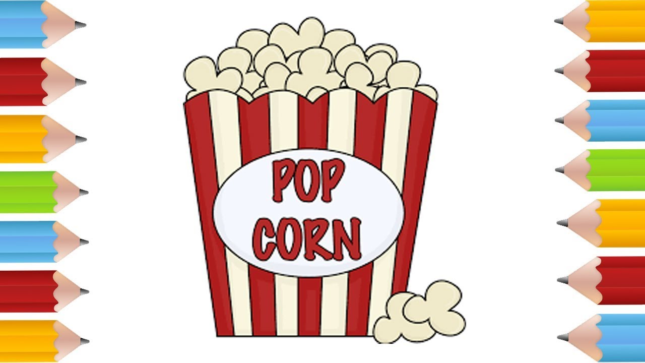 Coloring Pages How To Draw A Cartoon Box Of Popcorn Cute And Easy Bodraw Youtube