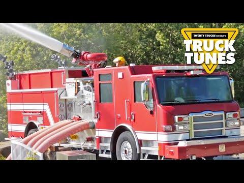 Fire Truck For Children   Truck Tunes For Kids   Twenty Trucks Channel   Pumper
