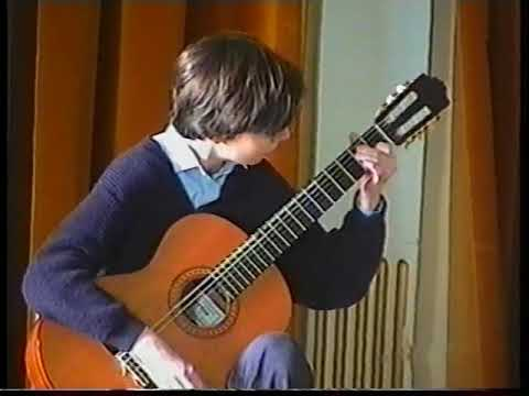 Sanja Plohl at age 15 - playing own composition