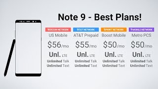 Galaxy Note 9 - Best Prepaid Plans & Carriers!