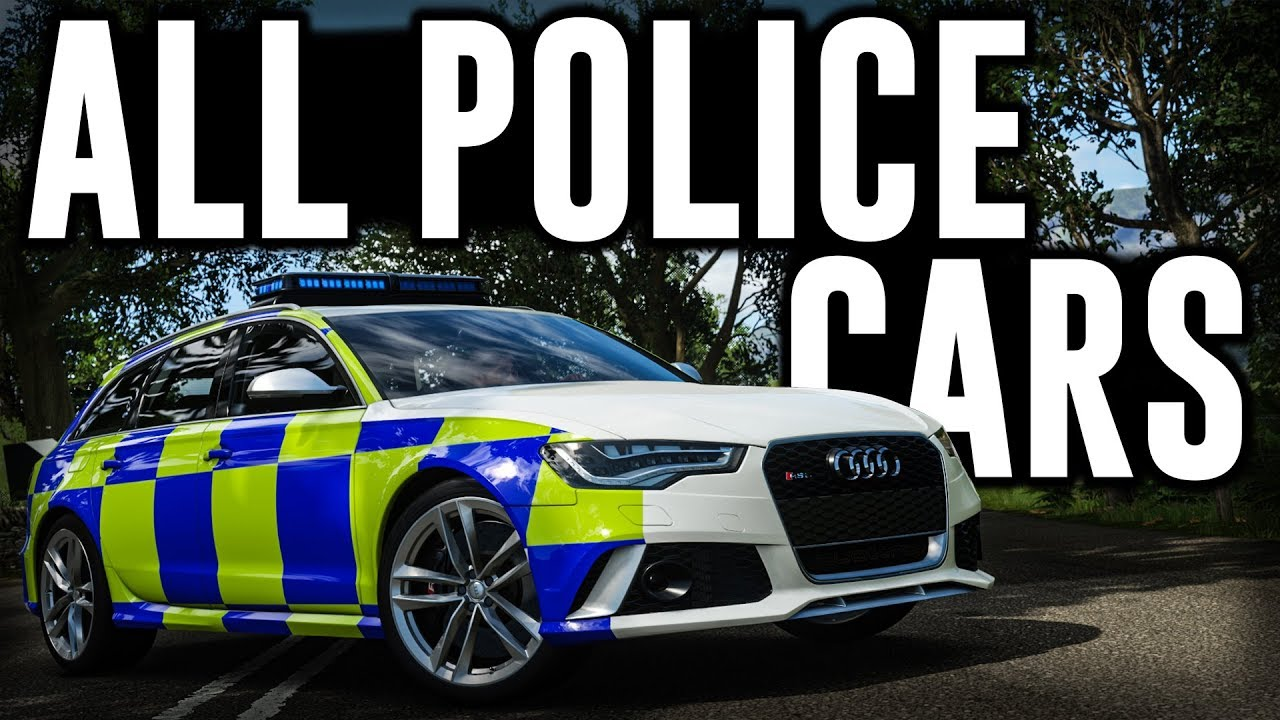 Forza Horizon 4 All Police Cars In The Game Youtube