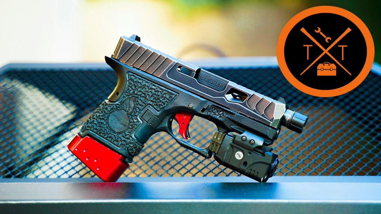 NEW Custom Glock Slide...Reptilian Scales... w/ links