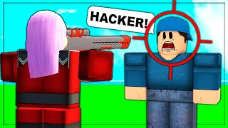I Pretend To Use HACKS In Arsenal.. (ROBLOX)