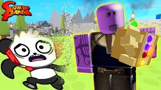 THANOS USED INFINITY SNAP TO DESTROY ME!? Let's Play as Thanos in Roblox Superhero Simulator