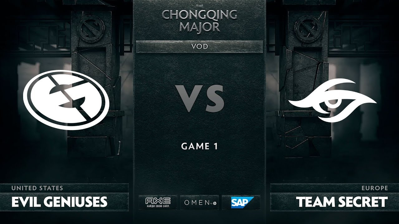 [EN] Evil Geniuses vs Team Secret, Game 1, The Chongqing Major LB Final