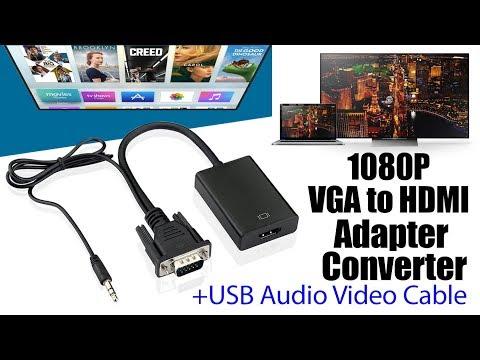 VGA TO HDMI Converter/Adapter I VGA To HDMI Adapter With Audio