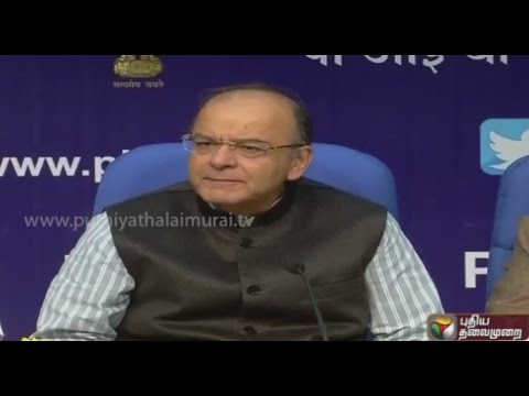 Live: Arun Jaitley talks about govt's decisions to curb black money