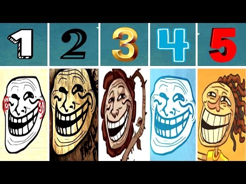 World of Trollface Quest 1, 2, 3, 4, 5 [Walkthrough 2016] | Lets Play | IULITM