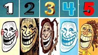 World of Trollface Quest 1, 2, 3, 4, 5 [Walkthrough 2016] | Let's Play