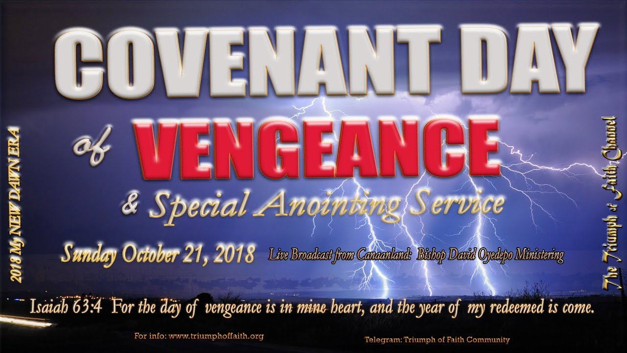 Covenant Day of Vengeance October 21, 2018 - YouTube