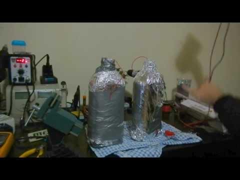 Make your own capacitor in under 10 min. DIY Leyden Jar.