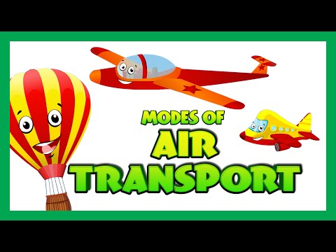 Air Transport for Children - Transport Videos for Children | Kids Hut