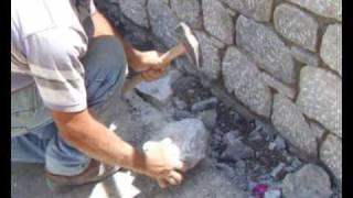 Κτίσιμο Κουμούλλας - Traditional Kalymnian stone wall