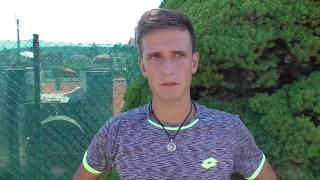 Vít Kopřiva po vítězství v 1. kole Rieter Open Ústí nad Orlicí 2018