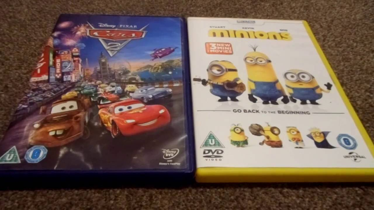 cars 2 and minions uk dvd unboxing youtube. Black Bedroom Furniture Sets. Home Design Ideas