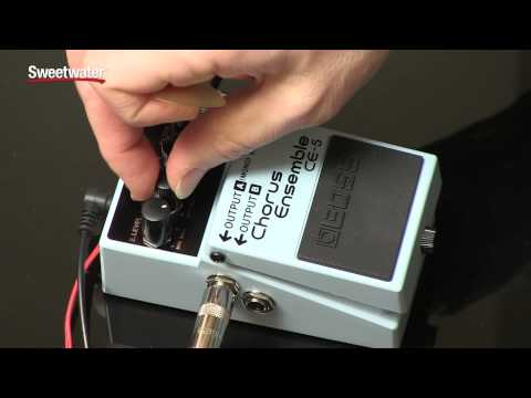BOSS CE-5 Stereo Chorus Ensemble Pedal Review by Sweetwater Sound