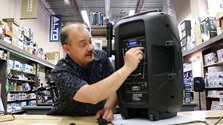 Review and live Demo of the Acoustic Audio 4315TN 1000 watts portable rechargeable speaker