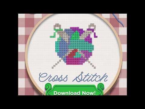Cross Stitch Sewing Patterns: Needlepoint Stitches Game