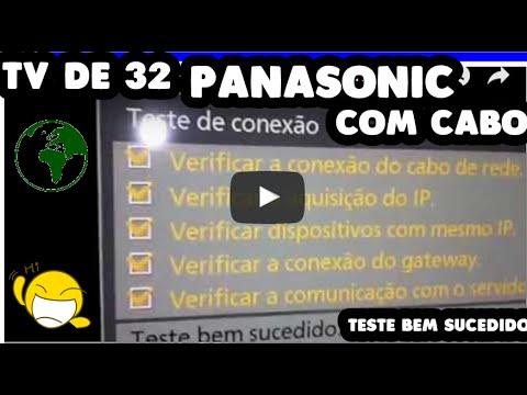 Como Usar internet Na Sua Tv Panasonic Viera COM O FIO 2018