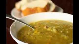 Гороховый суп пюре с ребрышками и гренками в домашних условиях. Рецепт под видео