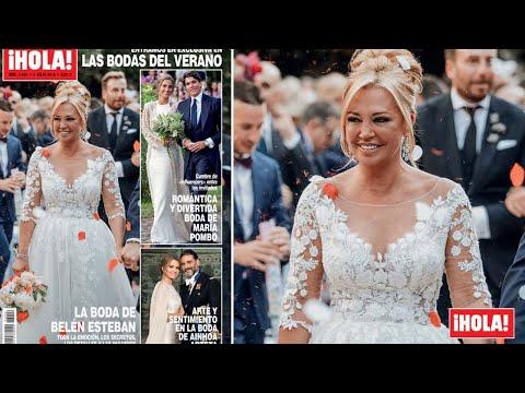 Así foi o vestido de voda de Belén Esteban