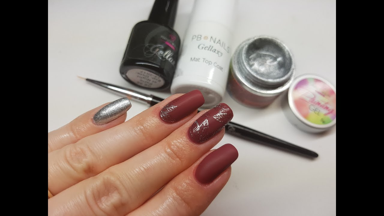 Srebrne Liście Na Paznokciach Leaf Manicure Perfect Beauty Youtube