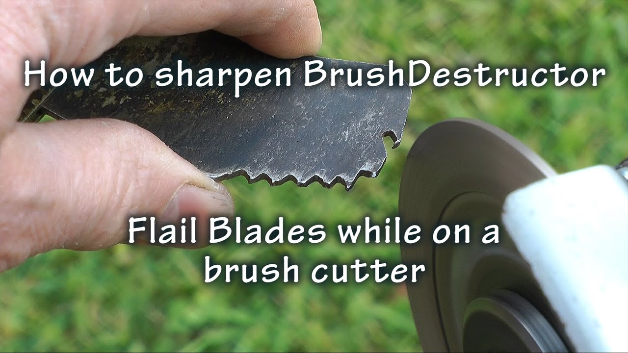 Sharpening BrushDestructor Flail Blades on the Brush Cutter