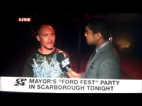 "LIVE INTERVIEW GONE WRONG... BUT FUNNY!! FORD FEST 2014! ROB FORD ""FORD MORE YEARS"""