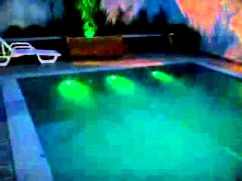Piscina iluminada con led RGB  YouTube