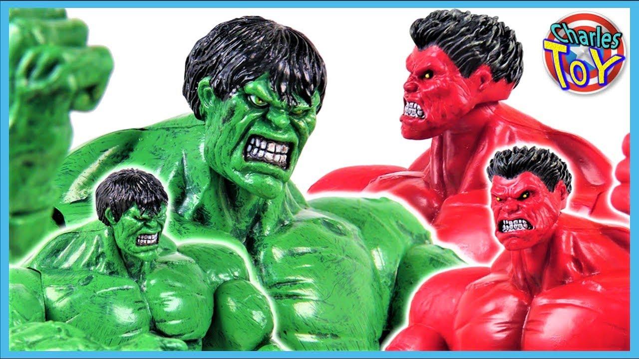 Download Red HULK VS Green HULK ! HULK SMASH! Marvel Select Hulk Action Figures Fight Now! Charles Hero Movie