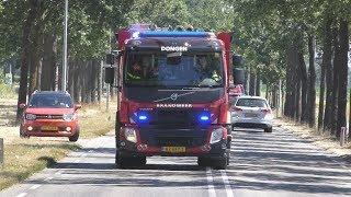 Prio 1 Brandweer Dongen TS20-7331 + Brandweer Rijen TS20-7032 Brand Buiten Textielstraat Dongen