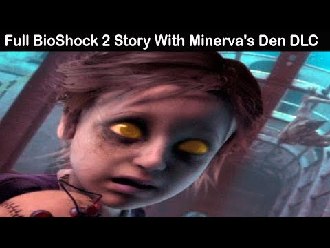 BioShock 2 All Cutscenes (Game Movie) Full Story HD With Minerva's Den DLC