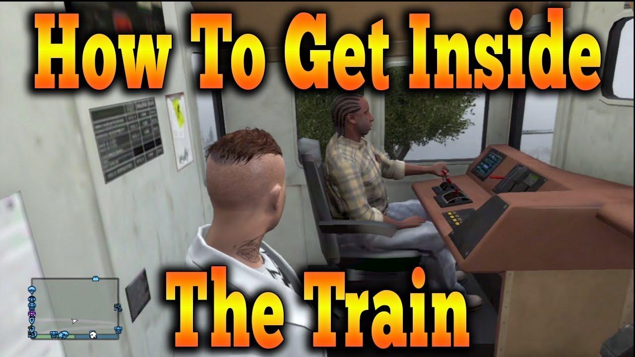 how to get in the train in gta 5 offline