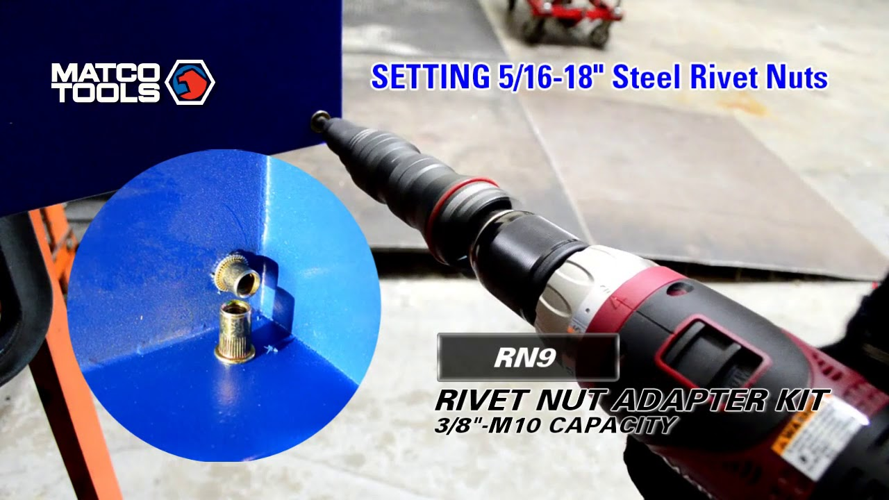 "3//8/"" Pneumatic Rivet Nut Setting Kit"