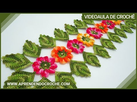Caminho de mesa em croche encantos da natureza for Camino de mesa a crochet