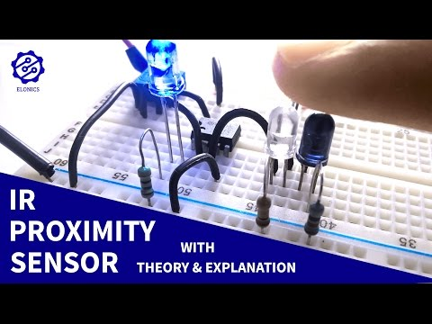 IR Proximity Sensor / Obstacle Detector circuit on Breadboard | LM358 Op-Amp projects