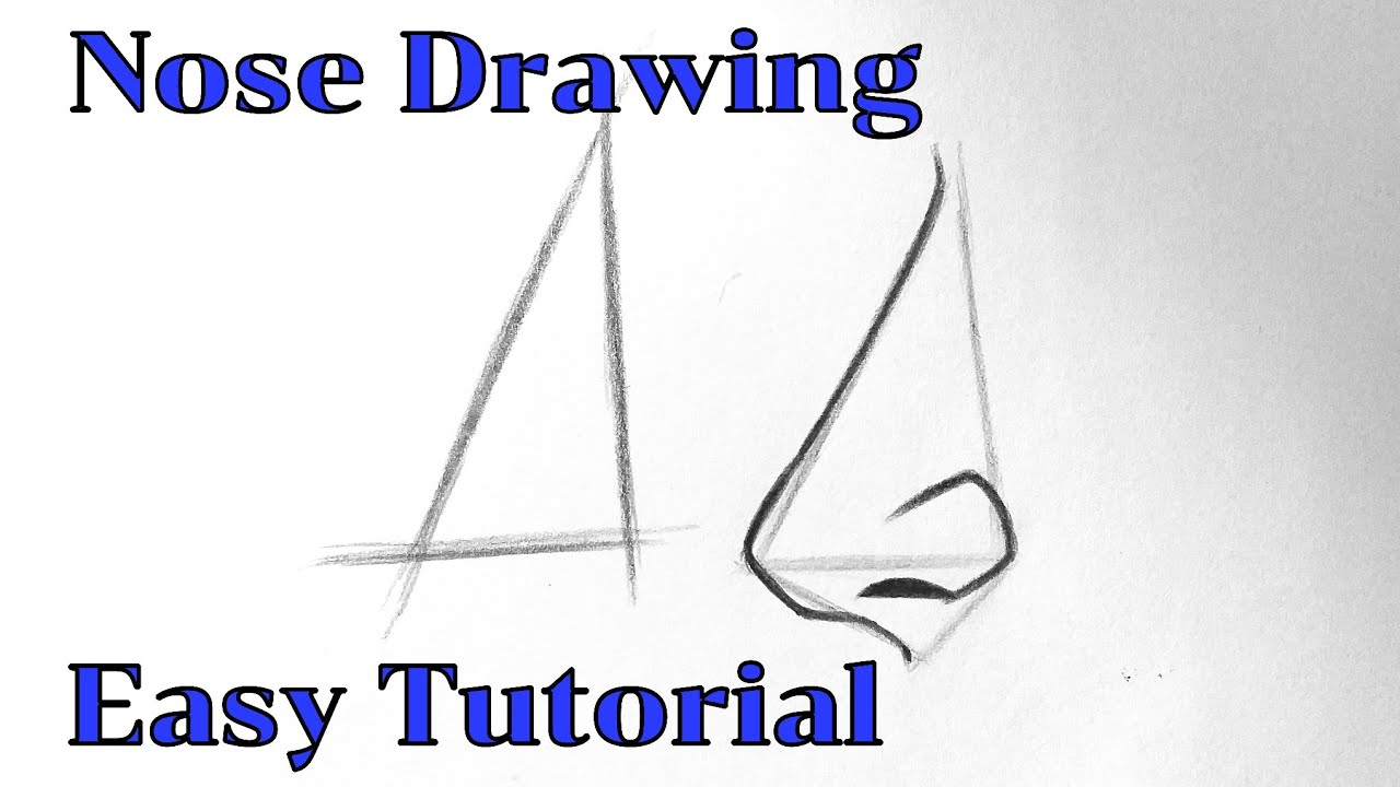 How to draw a nose easy(Side view)Nose drawing easy step by step tutorial for beginners pencil