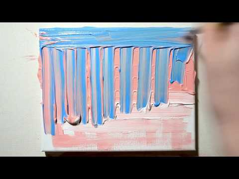 Easy Acrylic Abstract Painting Demonstration – Cool Technique!