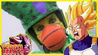 Vegeta Reacts To THE CELL SAGA IN 5 MINUTES (DRAGONBALL Z LIVE ACTION)