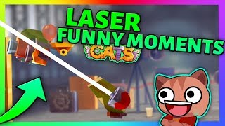 LASER FUNNY MOMENTS - Best Battles & Epic Fights - C.A.T.S: Crash Arena Turbo Stars