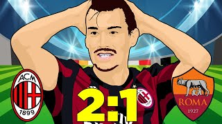 AC Milan Vs Roma (2-1) - Cutrone All'Ultimo Respiro - Serie A 31/08/2018