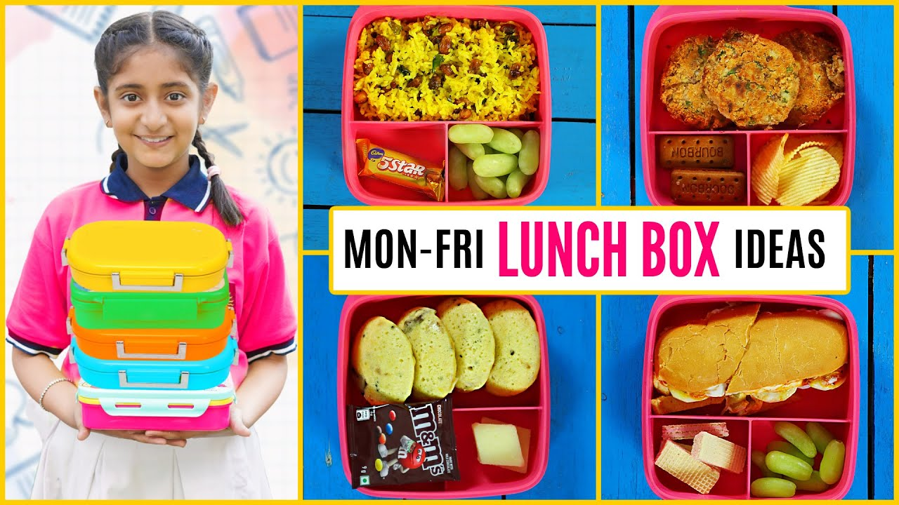 MONDAY to FRIDAY Kids LUNCH BOX Recipes | CookWithNisha
