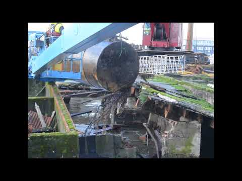 Oil tank hauled up from Astoria waters (video)