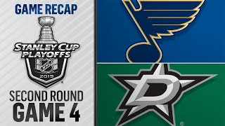 Stars win Game 4, even series with Blues